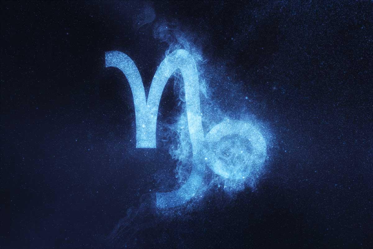 Symbol des Sternzeichens Steinbock